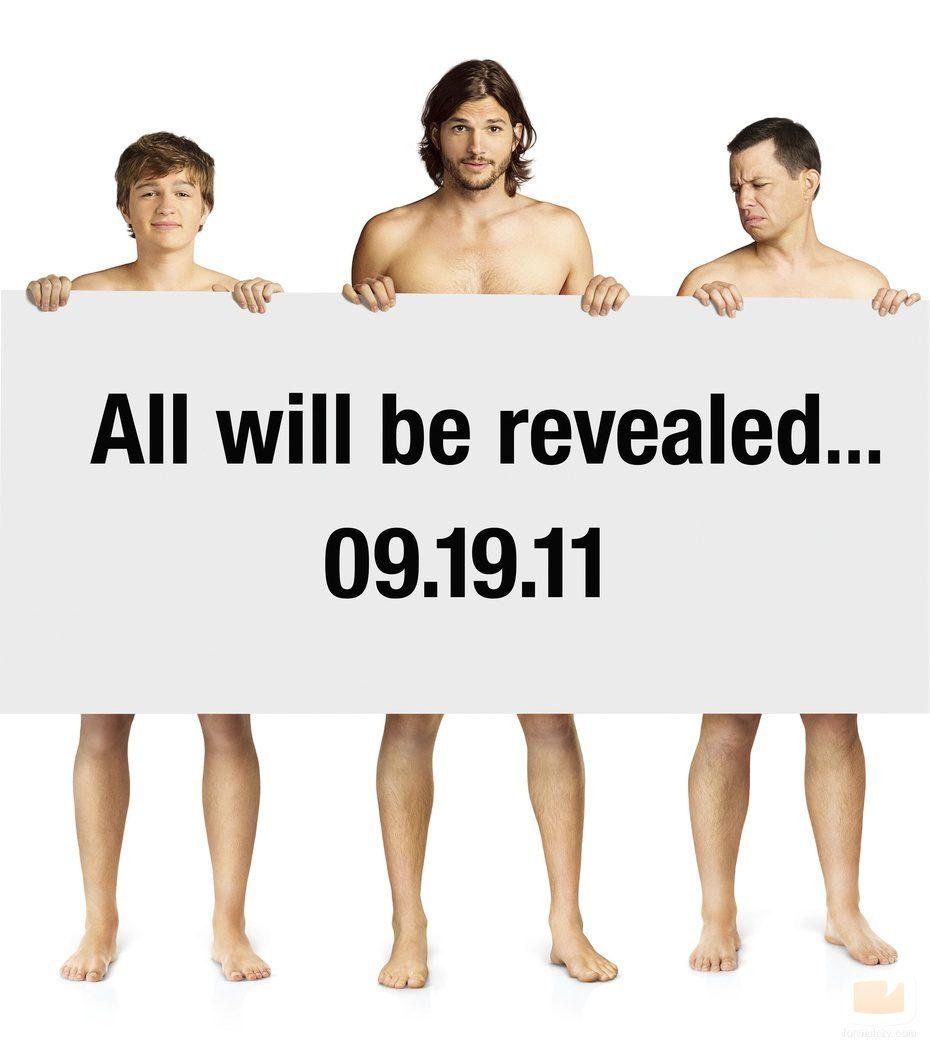 Ashton Kutcher, Angus T. Jones y Jon Cryer, desnudos en 'Dos hombres y medio'