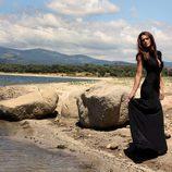 Ana Rujas con un vestido negro