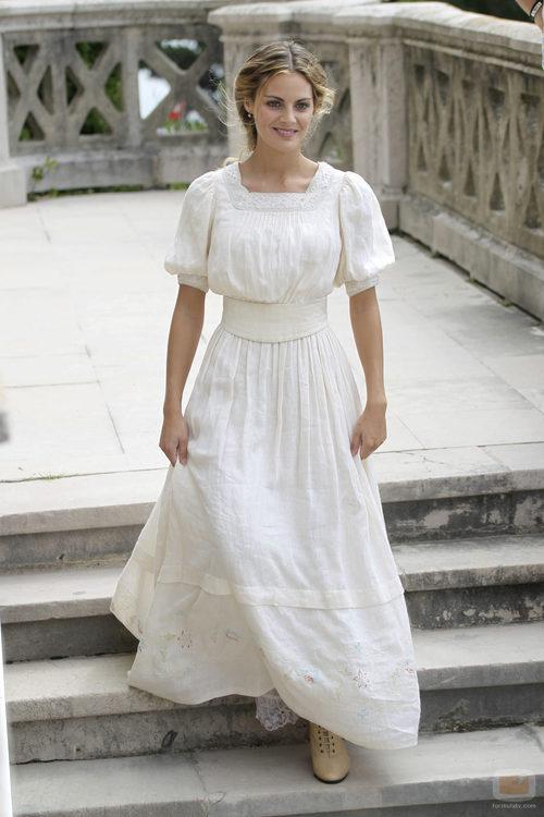 Amaia Salamanca en el rodaje de 'Gran Hotel'