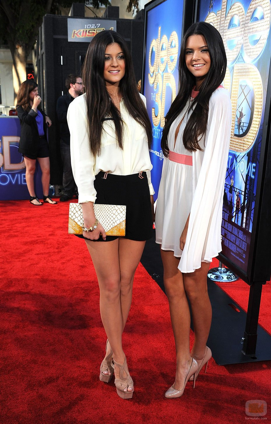 Kylie y Kendal Jenner en el estreno de 'Glee: The 3D Movie Concert'