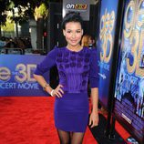 Naya Rivera en el estreno de 'Glee: The 3D Movie Concert'