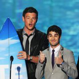 Cory Monteith y Darren Criss en los Teen Choice Awards 2011