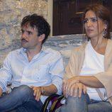 Raúl Peña y Lucía Jiménez en la presentación de 'La República'
