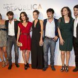 El elenco protagonista de 'La República'