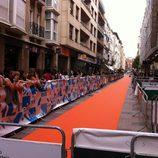 Aledaños de los Cines Guridi de Vitoria-Gasteiz