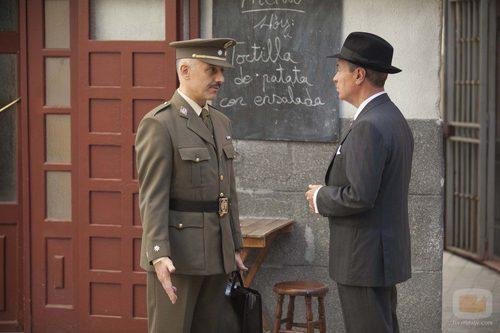 El Teniente Coronel Armenteros y Adolfo Laguna