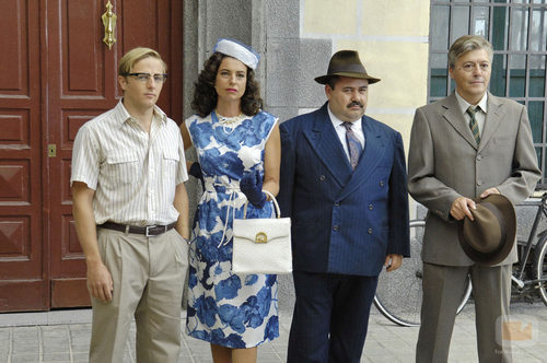 Juan Díaz, Lola Baldrich, Jorge Calvo y Sergi Calleja