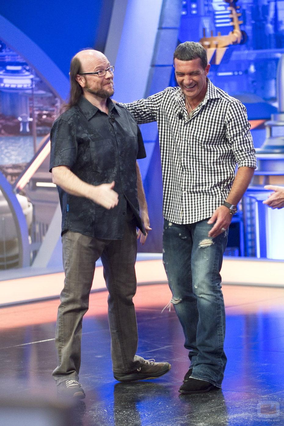 Santiago Segura se estrena en 'El hormiguero' con Antonio Banderas