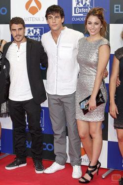 Javier Hernández, Mario Casas y Blanca Suárez en el estreno de \'El barco\'