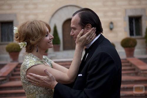 Carmen Cervera y su marido el Barón Thyssen en 'Tita Cervera. La Baronesa'