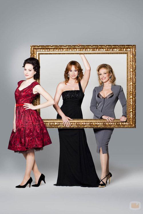 Las tres Carmen Cervera de 'Tita Cervera. La Baronesa'