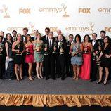 El equipo de 'The Daily Show' recoge el Emmy 2011 al Mejor Programa de Variedades