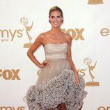 La modelo Heidi Klum en la entrega de los Emmy 2011