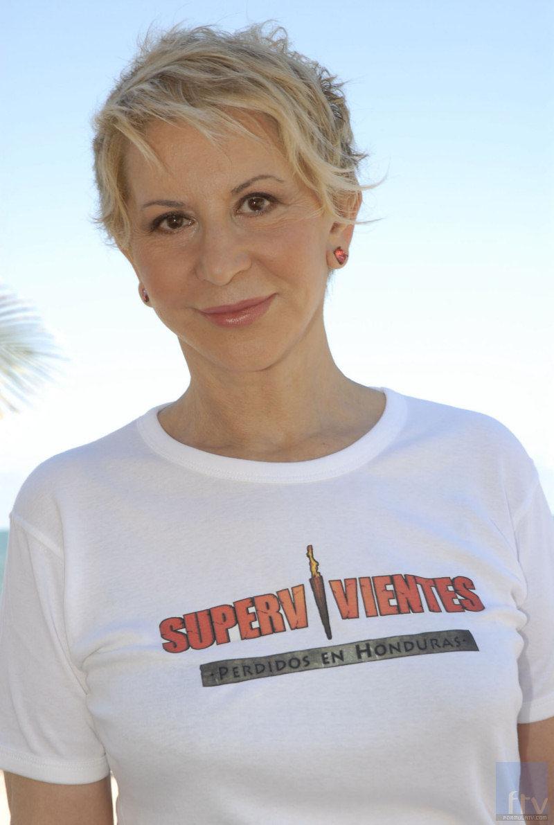 La colaboradora Karmele Marchante en 'Supervivientes'