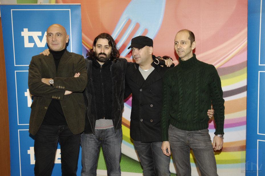 José Ramón Flórez, Javier Limón, Fernando Montesinos y Alejo Stivel