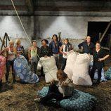 Los concursantes de 'Acorralados' fabrican sus colchones