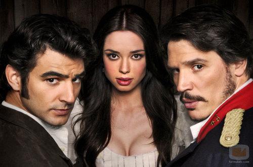 Antonio Velázquez, Dafne Fernández y Sergio Peris Mencheta