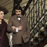 Los personajes Emilia y Arturo de 'A condesa rebelde'