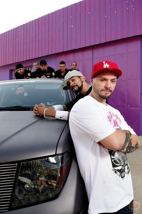 El Dúo Kie y los mecánicos de 'MTV Tuning España'
