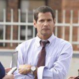 Thomas Calabro durante el cameo en 'CSI: NY'