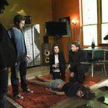 Sela Ward y el equipo de 'CSI: NY'