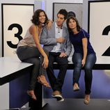 Cristina Teva y Laia Portaceli con David Broncano