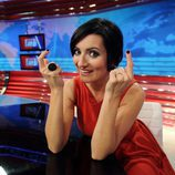 Silvia Abril en el plató de 'Las noticias de las 2'