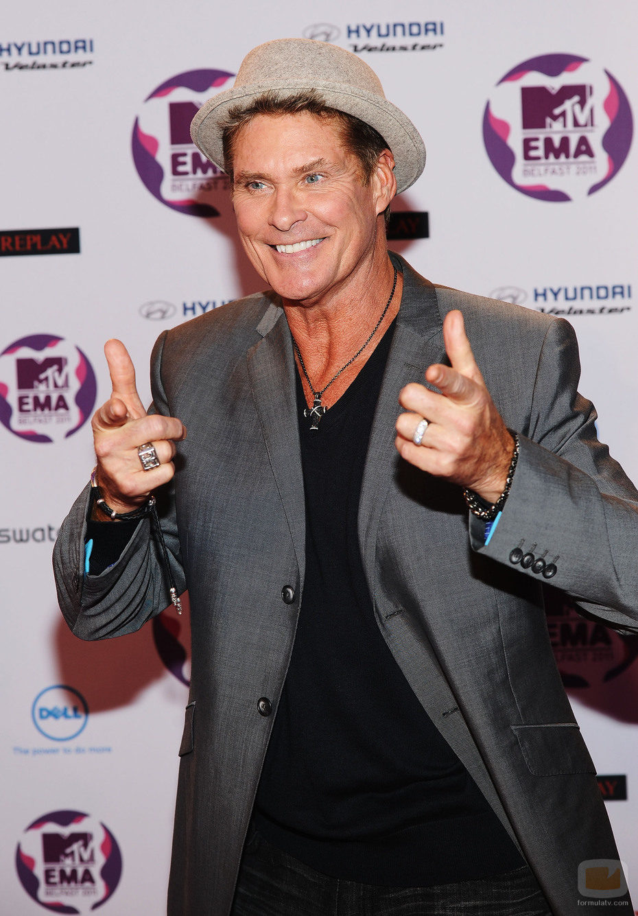 David Hasselhoff en los Europe Music Awards 2011