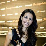 La presentadora Ana Pastor posa con su Premio Protagonistas 2011