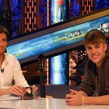 Pablo Motos con Justin Bieber