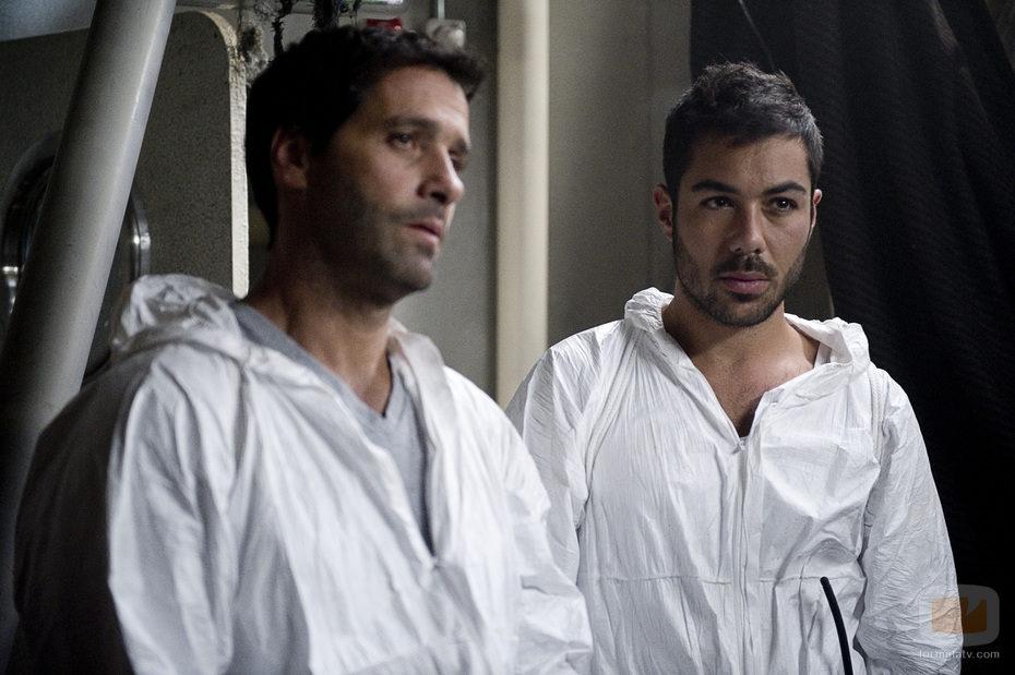 Ramiro y Gamboa durante el nuevo capítulo de 'El Barco'