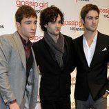 Los tres protagonistas masculinos de 'Gossip Girl' acudieron al evento