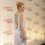 La actriz Blake Lively pisando la alfombra roja de la fiesta de 'Gossip Girl'