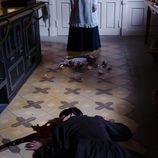 Cristina Olmedo yace muerta en el suelo en 'Gran Hotel'