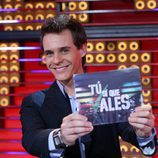 Christian Gálvez, sonriente, es el presentador de 'Tú sí que vales'