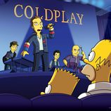 Coldplay en la temporada 21 de 'Los Simpson'