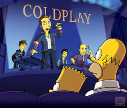 Coldplay en la temporada 21 de \'Los Simpson\'