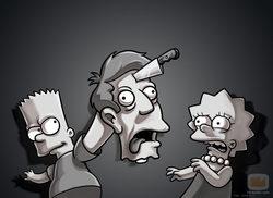 Bart Simpson, Lisa Simpson y Skinner en \'Los Simpson\'