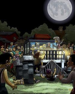 \'Los Simpson\', atacados por unos zombies