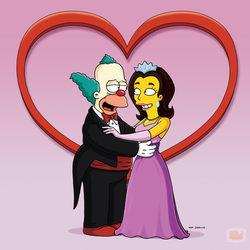 El payaso Krusty de \'Los Simpson\', enamorado