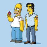 Hommer Simpson y Ricardo Bomba en la temporada 21