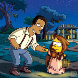Lisa Simpson y el doctor Hibbert en la temporada 21 de \'Los Simpson\'