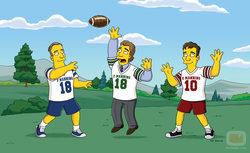 Partido de rugby de \'Los Simpson\'