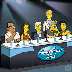 El jurado de \'American Idol\' en \'Los Simpson\'