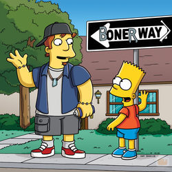Bart Simpson en un capítulo de la temporada 21