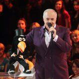 José Luis Moreno con sus muñecos en 'Tú si que vales'