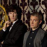"""El dúo protagonista de 'Sherlock', los """"modernos Sherlock Holmes y Watson"""