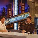 Tom Cruise rio sin parar en su primera visita a un plató de televisión en España