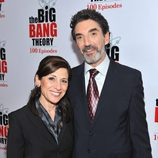 Nina Tassler y Chuck Lorre en la fiesta de 'The Big Bang Theory'