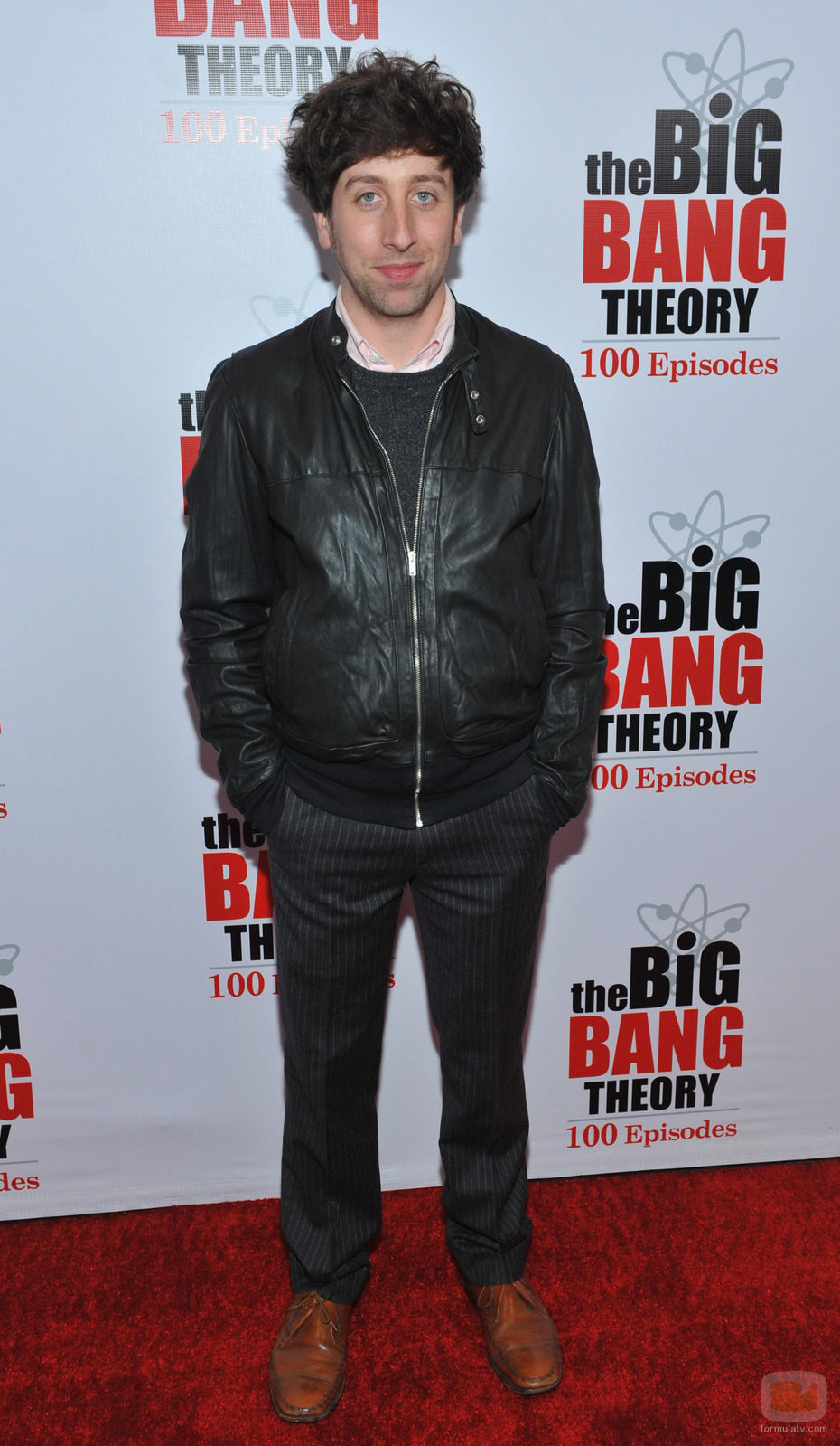 Simon Helberg en la fiesta de 'The Big Bang Theory'